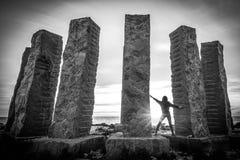 Femme à Cala Llentia, Ibiza Photos libres de droits