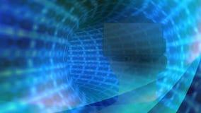 Femme à l'aide du casque de réalité virtuelle avec le tunnel digitalement composé illustration stock