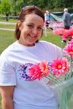 Femme à la course pour l'événement de vie Image stock