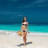 Femme à la plage Photo libre de droits