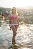 Femme à la plage Image libre de droits