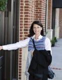 Femme à la trappe Photographie stock libre de droits
