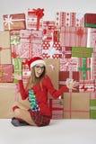 Femme à Noël Photographie stock