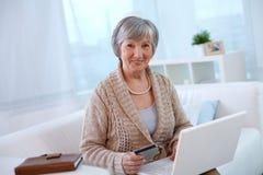 Femme âgée Photo stock