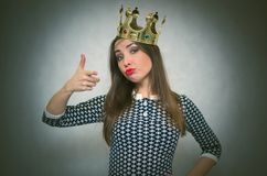 Femme égoïste Personne égoïste Photographie stock libre de droits