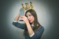 Femme égoïste Personne égoïste Images libres de droits