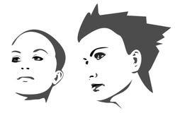 Femme élégant illustration stock