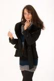 Femme élégant avec la facture photo stock