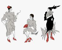 Femme élégante avec un cigare Images stock