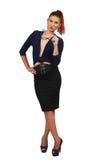 Femme élégante d'affaires dans le costume élégant Photographie stock libre de droits