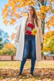 Femme élégante de mode d'automne image libre de droits