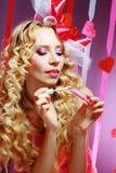 Femme élégante de valentine Photographie stock libre de droits