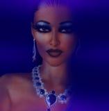 Femme élégante en bijoux Images libres de droits