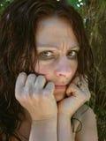 Femme éperdue 1 Image libre de droits