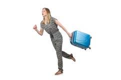 Femme étant en retard Photographie stock libre de droits