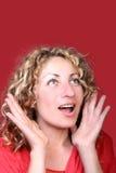 Femme étonné Photo stock