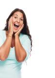 Femme étonné Image libre de droits
