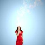 Femme étonné Photographie stock libre de droits
