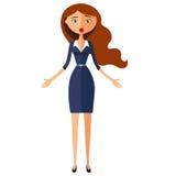 Femme étonné Illustration plate de vecteur de bande dessinée de caractère émotif de fille illustration stock