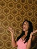 Femme étonnée insousiante photos stock