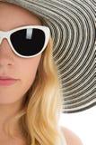 Femme étroite d'été de portrait Image libre de droits