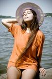 Femme photo stock