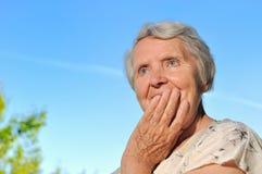 Femme aîné. Image libre de droits