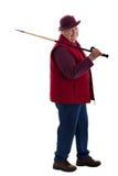 Femme aîné actif avec le bâton de marche 3 Images stock