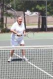 Femme aîné actif - tennis Images libres de droits