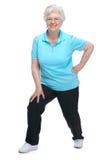 Femme aîné attirant au club de santé Image libre de droits