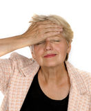 Femme aîné avec un certain ennui Photo libre de droits
