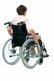 Femme aîné dans un fauteuil roulant Photo stock