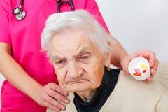 Femme aînée à la maison Photographie stock libre de droits