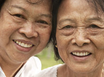 Femme aînée asiatique Photos libres de droits