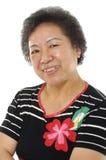 femme aînée asiatique Images stock