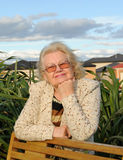 Femme aînée de sourire extérieure Images stock