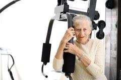 femme aînée en bonne santé Images libres de droits