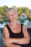 Femme aînée fatiguée Images libres de droits
