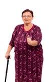 Femme aînée heureuse Photo libre de droits