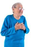 Femme aînée heureuse Photos stock