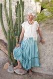 Femme aînée intense Image stock
