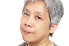 Femme aînée occasionnelle Photos stock