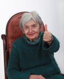 Femme aînée positive Photographie stock libre de droits