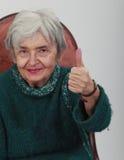 Femme aînée positive Photos stock