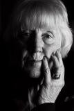 Femme aînée triste Images libres de droits