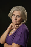 Femme aînée triste Image stock