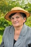 Femme aînée - verticale Photographie stock libre de droits