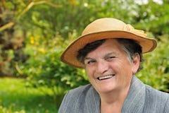Femme aînée - verticale Image libre de droits