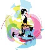Femme abstraite de forme physique, corps féminin qualifié illustration libre de droits