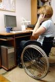 Femme active de fauteuil roulant Image libre de droits